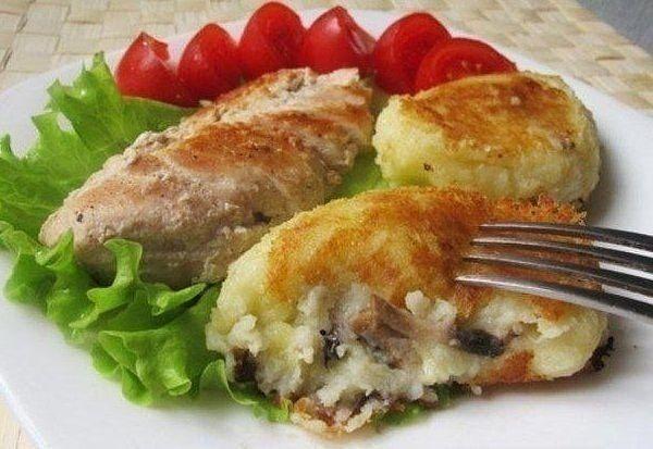 Картофельные зразы с грибами!